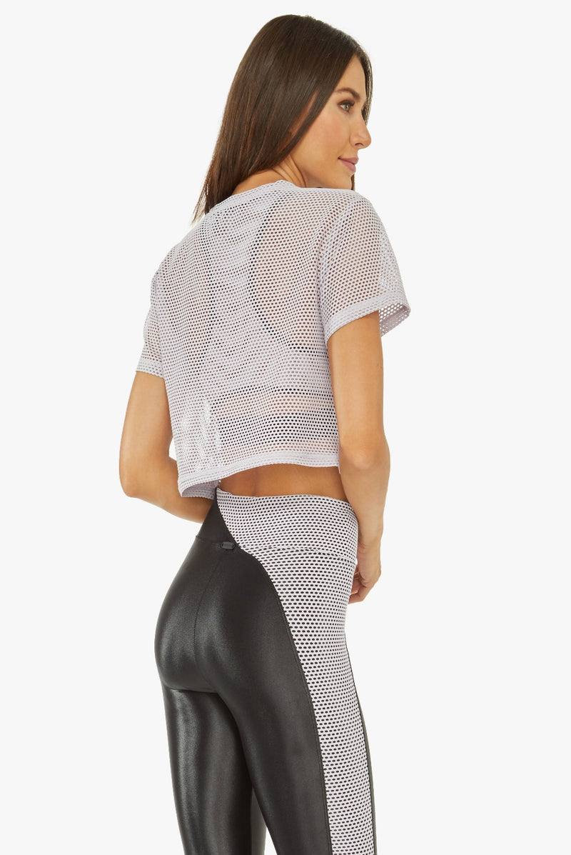 Koral Terrain Mesh Crop Top
