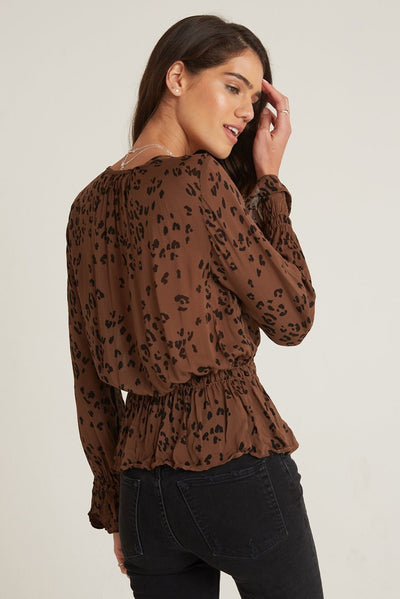 Bella Dahl Button Front Peplum Blouse