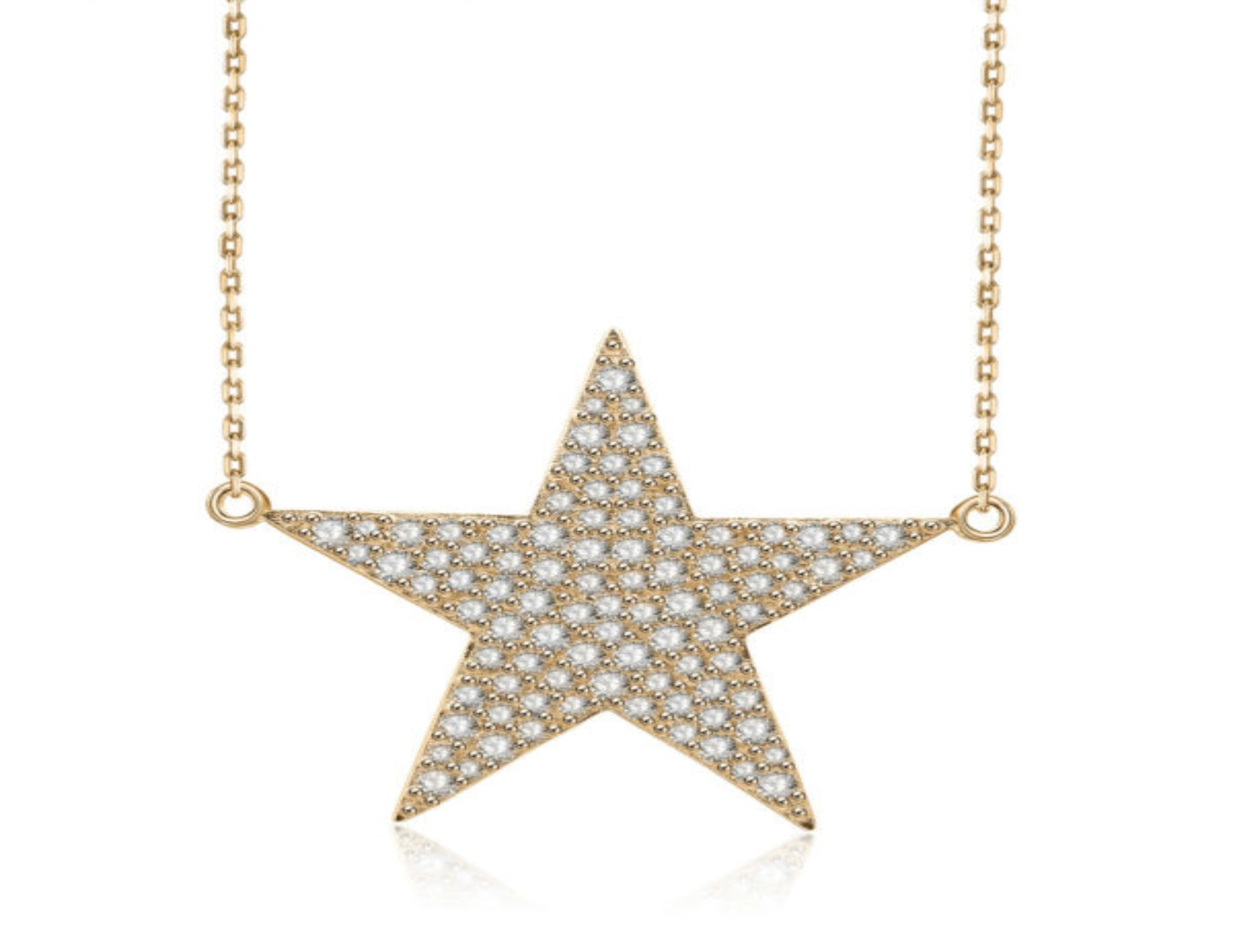 Nicki Roxx Sterling Silver Yellow Star Necklace