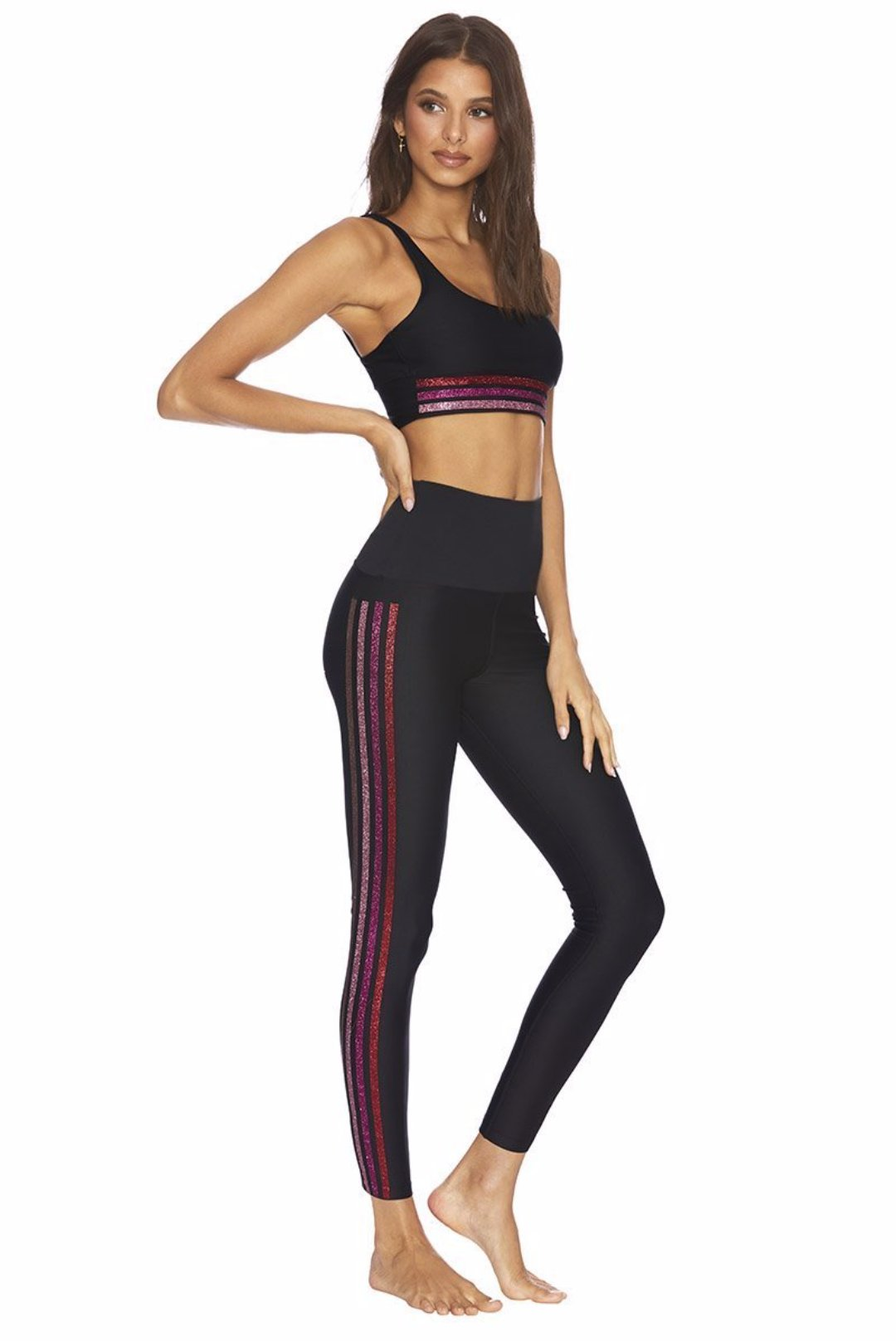 Beach Riot Jade Legging Multi Stripe