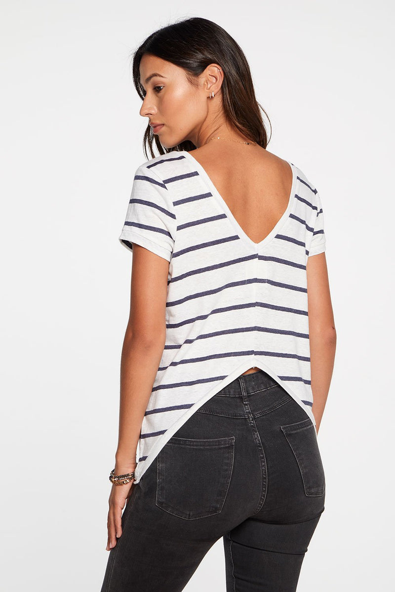 Chaser Deep V Open Back Tee