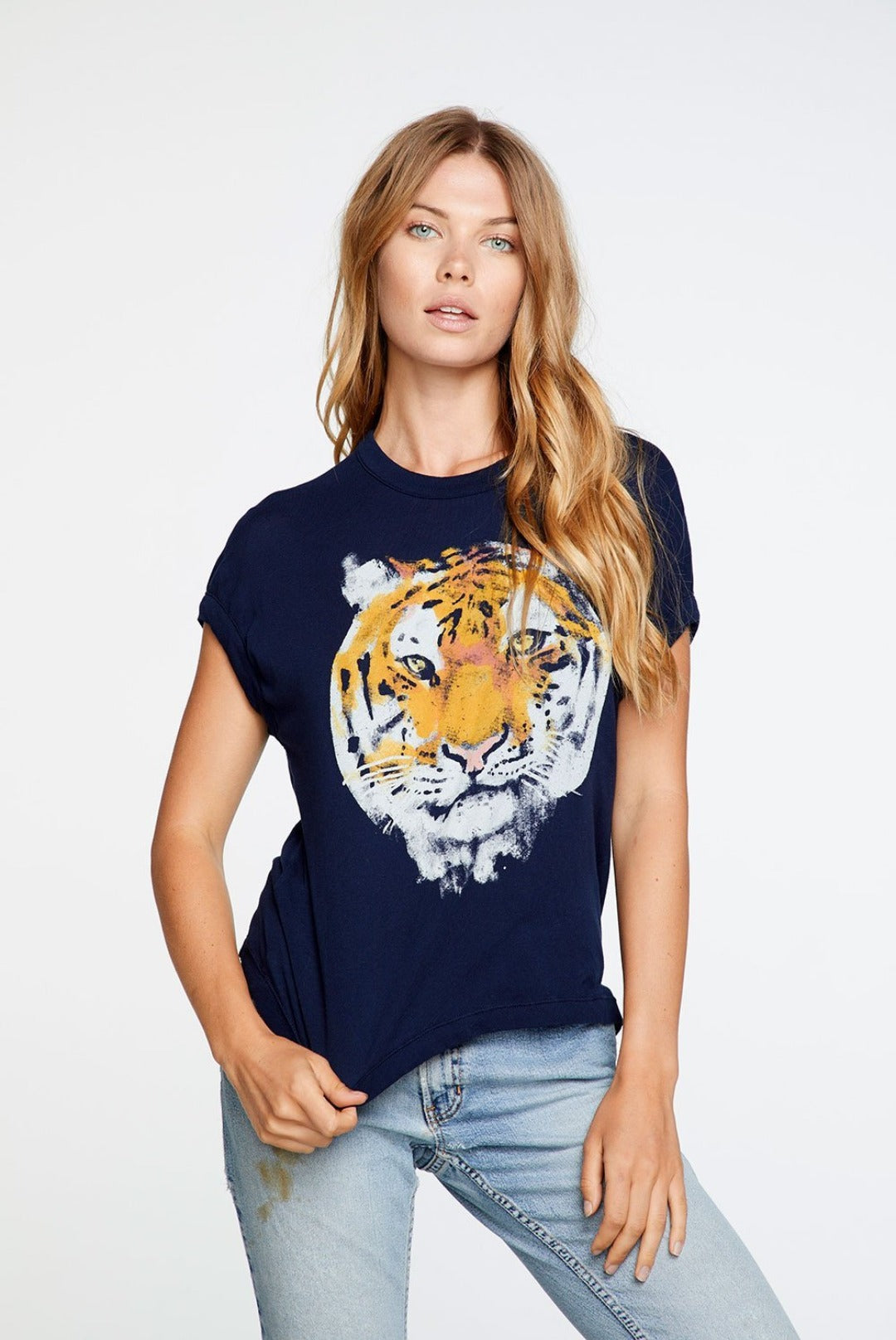 Chaser Tiger Portrait Crew Neck Tee