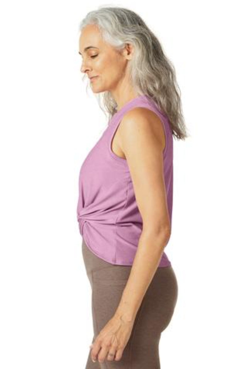 Beyond Yoga | Front Twist Muscle Tank