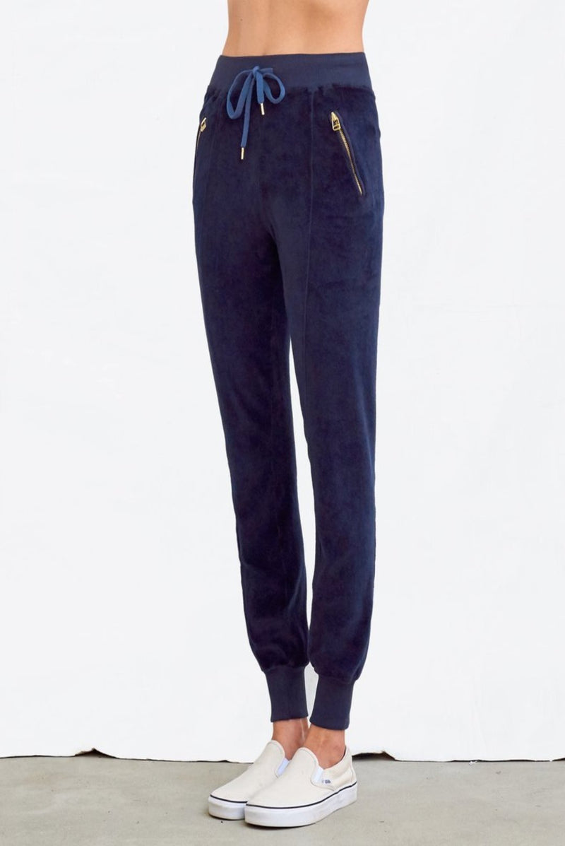 Sundry Velour Pintuck Pants