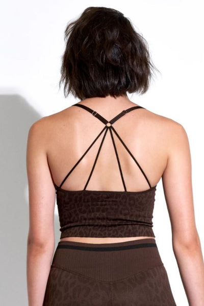 Avocado Leo Strappy Crop Bra