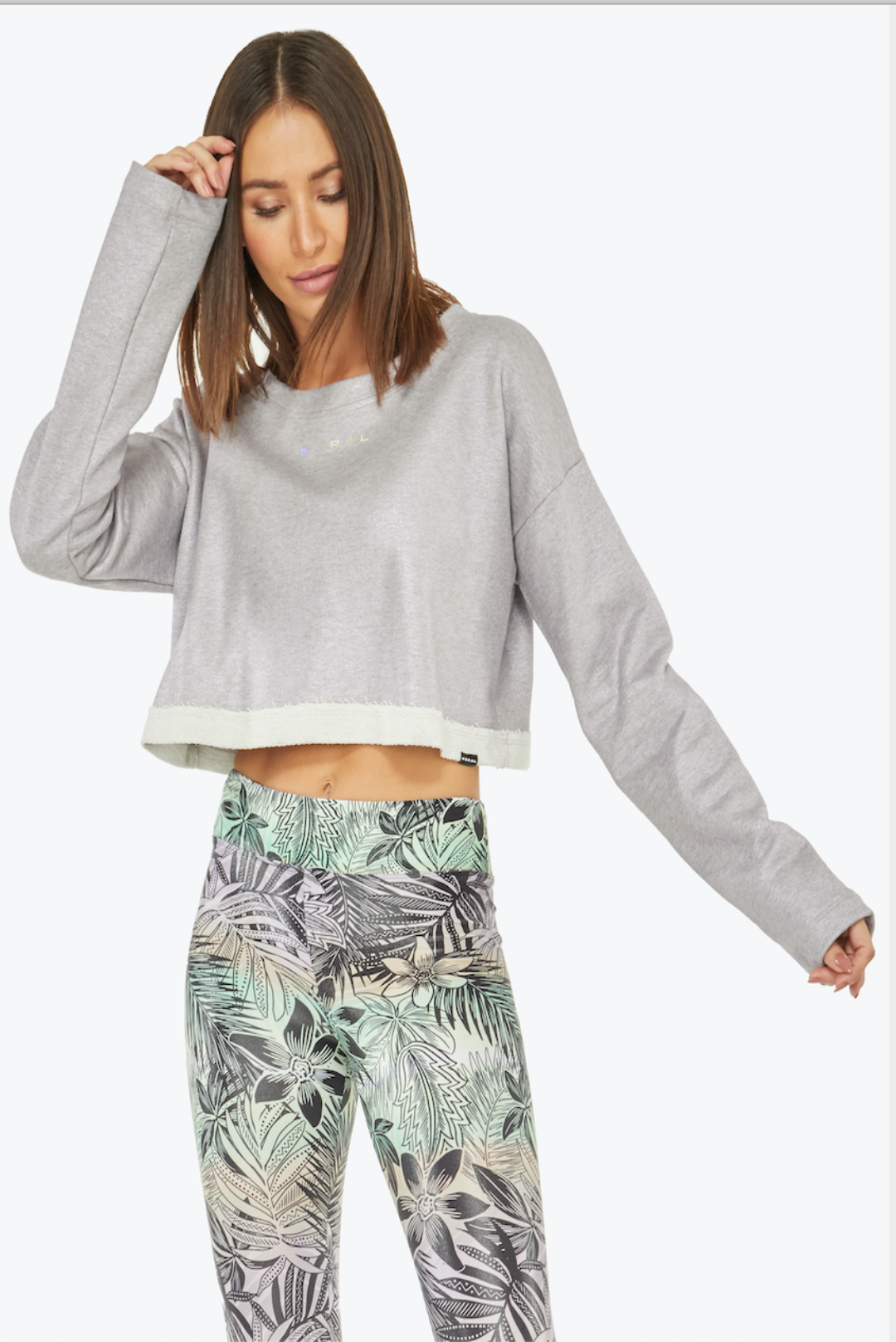 Koral Valor Wave Crop Top