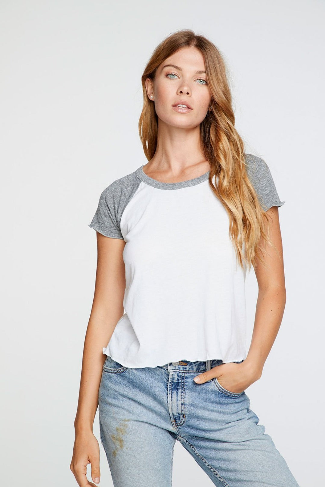 Chaser Short Sleeve Cropped Baseball Tee
