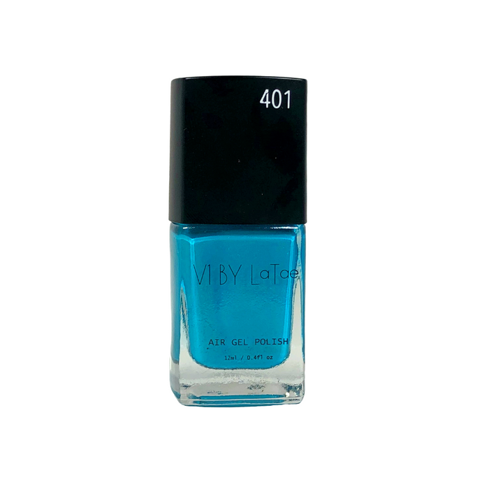 V1 BY LaTae vegan, 18-free, air gel nail polish bottle for the color Tree Swallow, teal, blue, turquoise, aqua