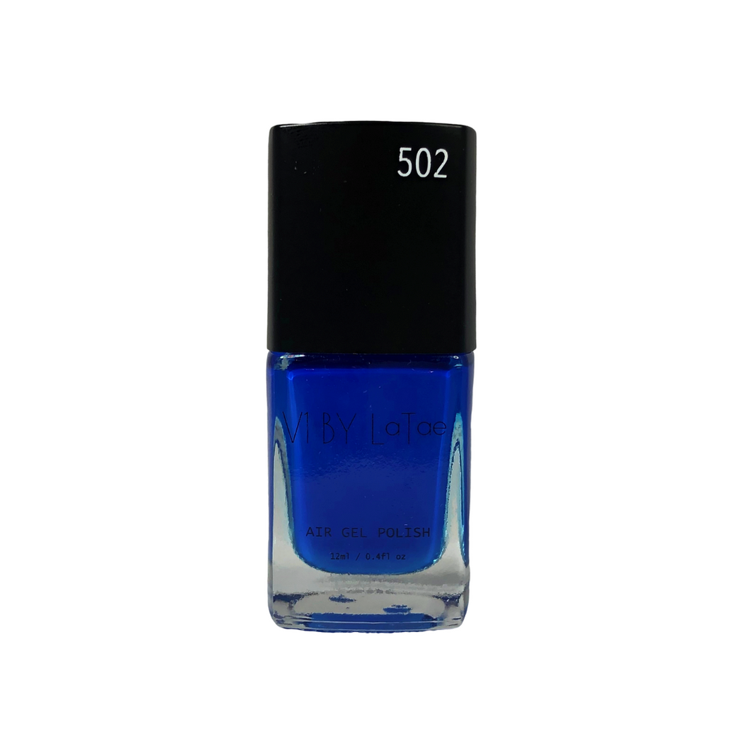 V1 BY LaTae vegan, 18-free, air gel nail polish bottle for the color Fairy Bluebird, blue