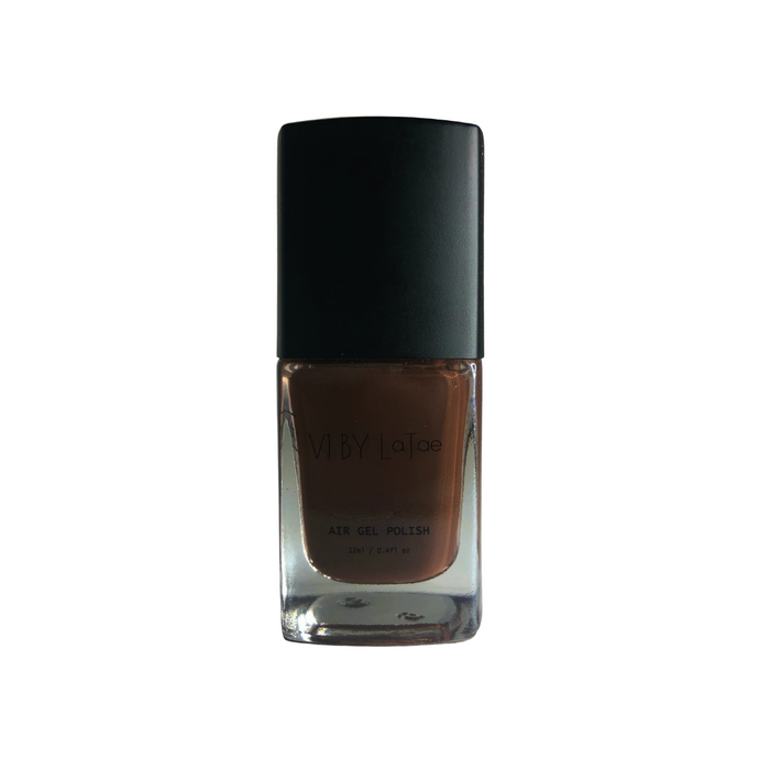 V1 BY LaTae Mineral and Stone vegan, 18-free, air gel nail polish bottle for the color Bronzite, Brown, Tan
