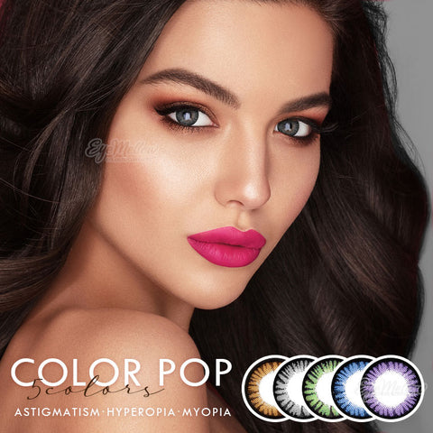 ColorPop 5colors Colored Contacts for Astigmatism/Hyperopia/Myopia EyeMellow