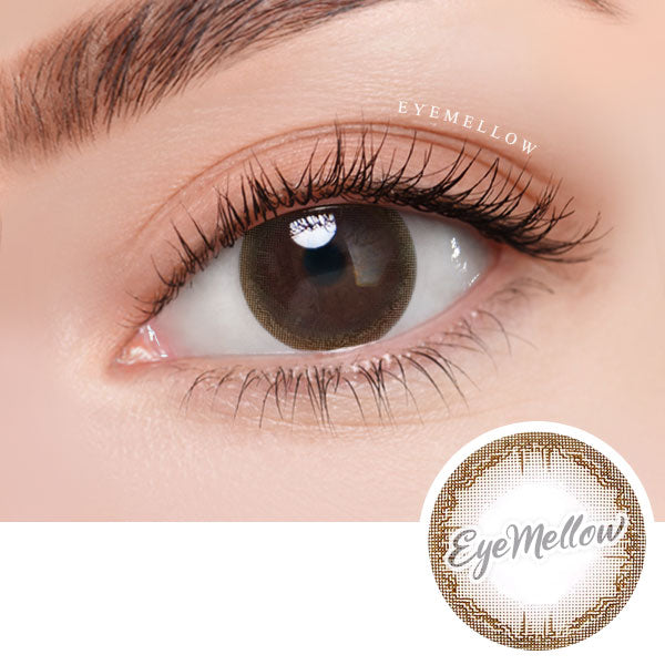 Antique Brown Colored Contact Lenses (Hyperopia)