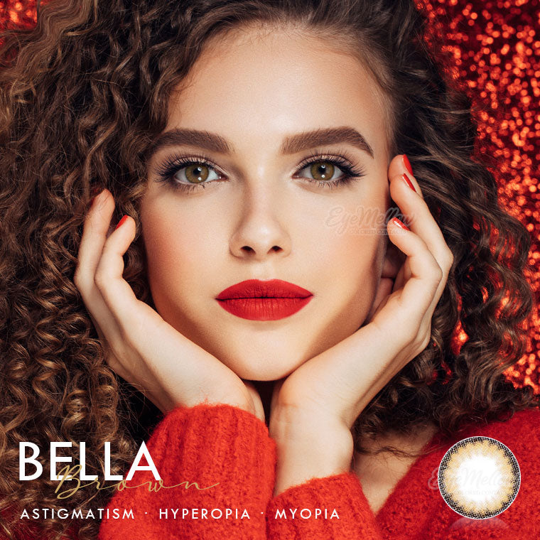 Bella Brown Colored Contact Lenses (Hyperopia)
