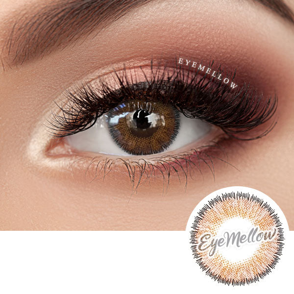 Catty Brown Colored Contact Lenses (Hyperopia)