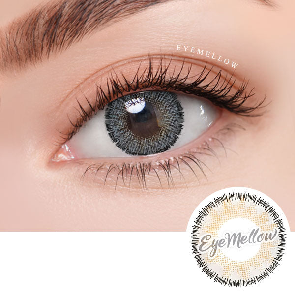 Catty Gray Colored Contact Lenses (Hyperopia)