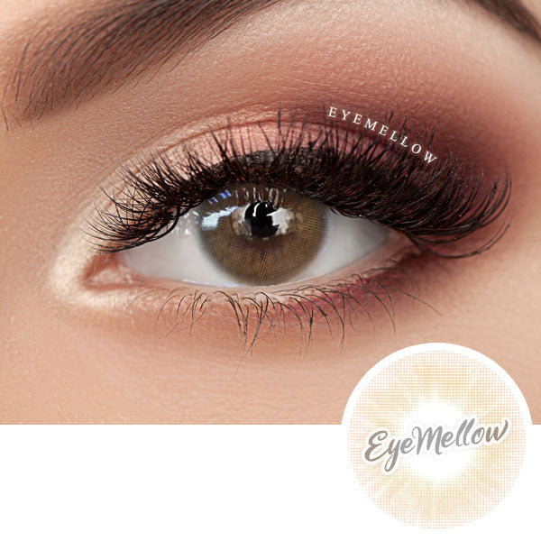 Creamy Brown Colored Contact Lenses (Toric)