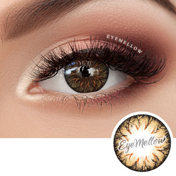 Eclair Orange Brown Colored Contact Lenses (Toric)