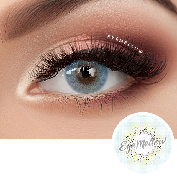 [2set - 20%OFF] Creamy Brown + Glam AquaBlue Colored Contact Lenses (Toric)