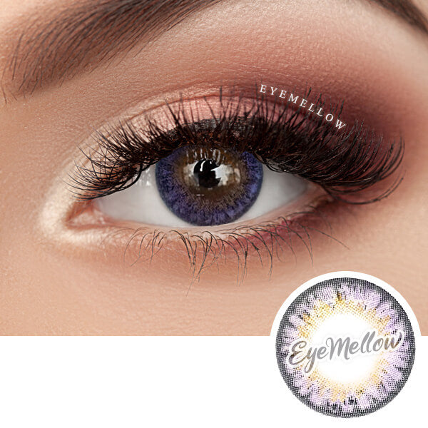 [1+1] Happy Holi Violet Colored Contact Lenses - Silicone Hydrogel