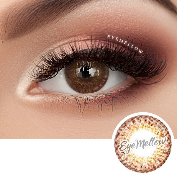 [1+1] Happy Holi Brown Colored Contact Lenses - Silicone Hydrogel