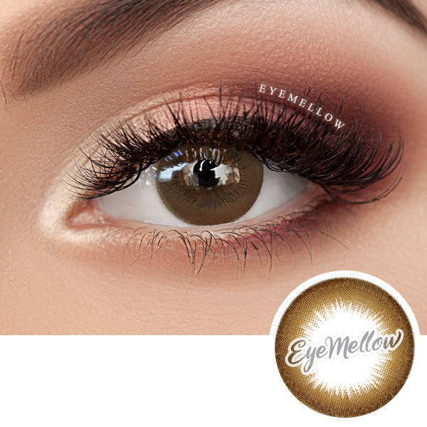 Hazelnut Latte Brown Colored Contact Lenses (Toric)