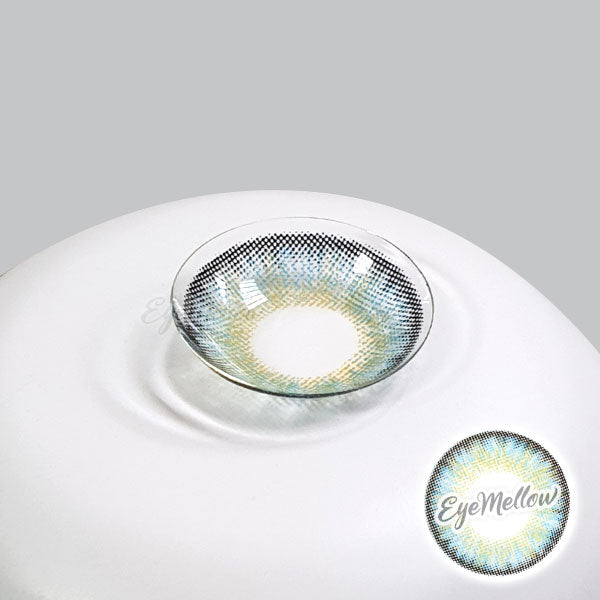 Neo Pastel Yellow Blue Colored Contact Lenses (Hyperopia)