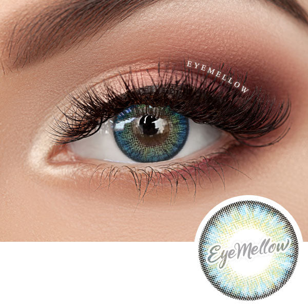 Neo Pastel Yellow Blue Colored Contact Lenses (Toric)