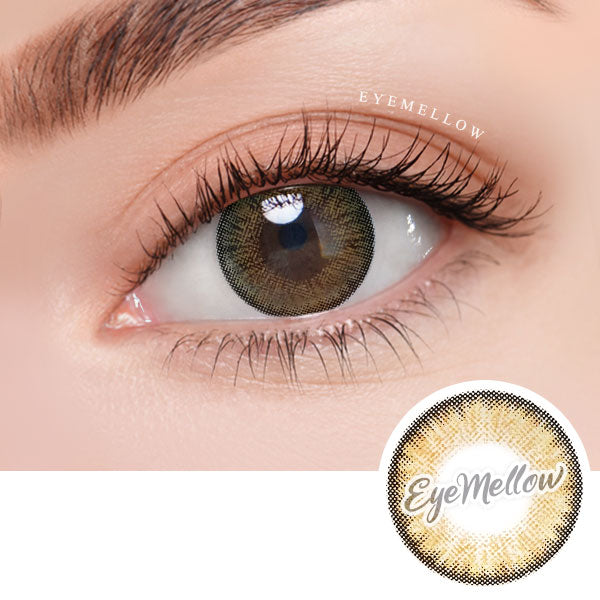 Neo Pastel Yellow Brown Colored Contact Lenses (Hyperopia)