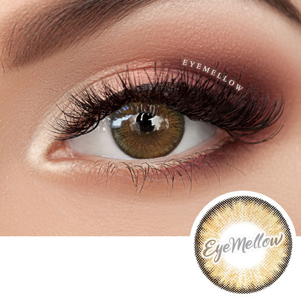 Neo Pastel Yellow Brown Colored Contact Lenses (Toric)