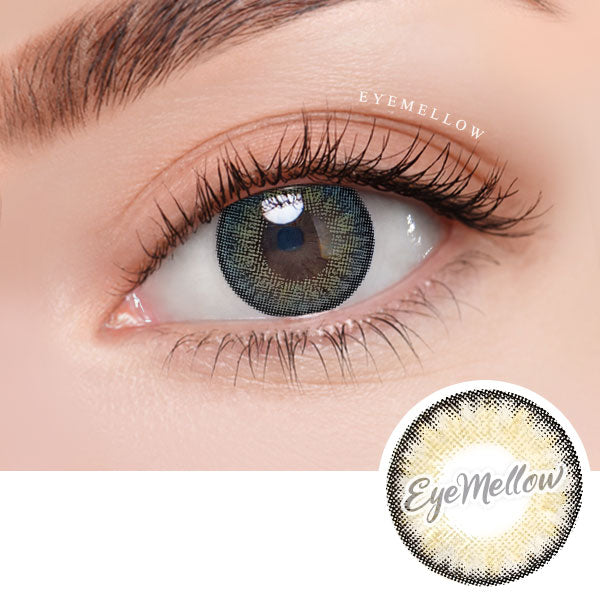 Neo Pastel Yellow Gray Colored Contact Lenses (Toric)