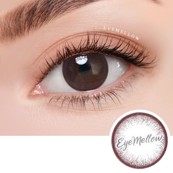 Pure Circle Red Brown Colored Contact Lenses (Hyperopia)