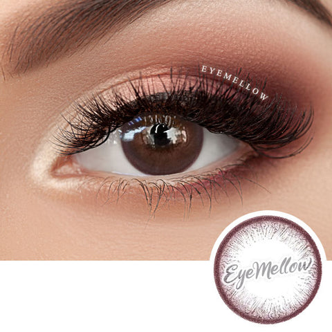 Pure Circle Red Brown Colored Contact Lenses (Toric)