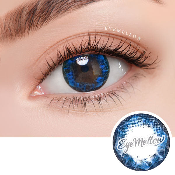 Ruby Blue Colored Contact Lenses (Toric)