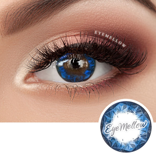 Ruby Blue Colored Contact Lenses