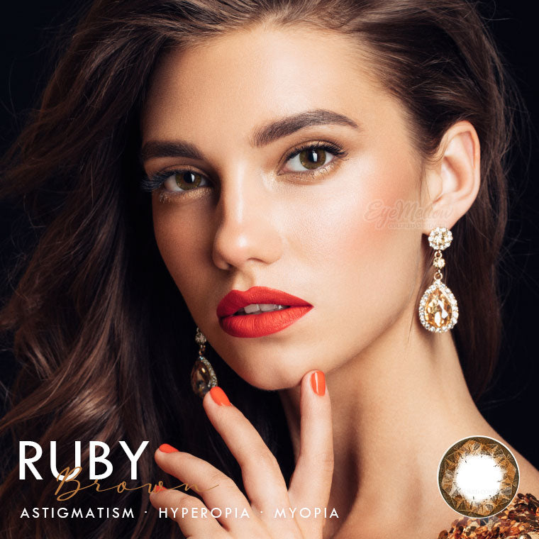 Ruby Brown Colored Contact Lenses (Toric)