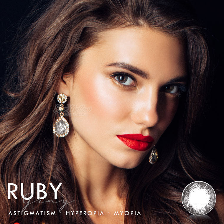 Ruby Gray Colored Contact Lenses (Hyperopia)