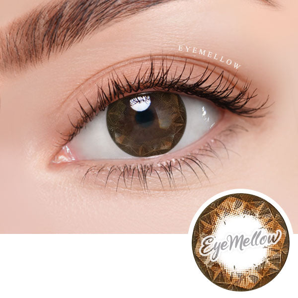 Ruby Brown Colored Contact Lenses (Hyperopia)