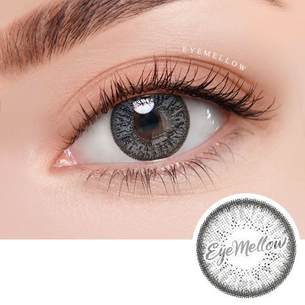 Shiny Gray Colored Contact Lenses (Toric)