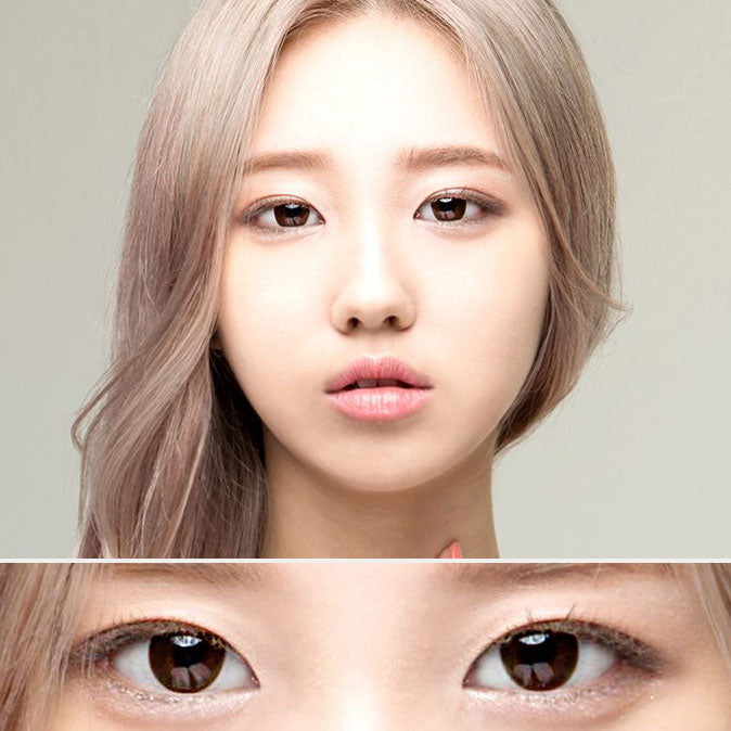 Soft Chocolate Brown Colored Contact Lenses (Hyperopia)