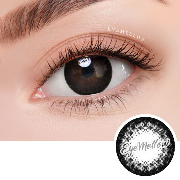 Vovo Black Colored Contact Lenses (Hyperopia)