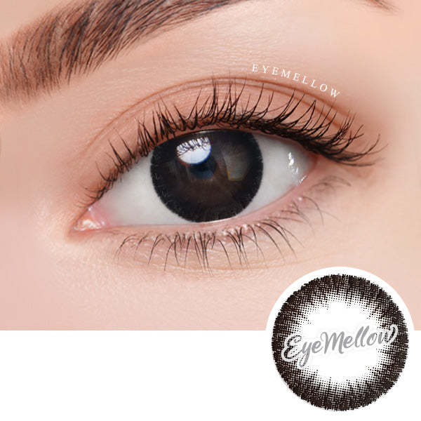 October Black Colored Contact Lenses - Silicone hydrogel