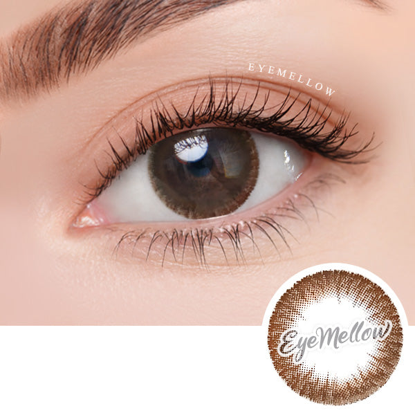 October Chocolate Colored Contact Lenses - Silicone hydrogel