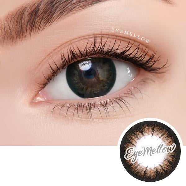 Crystal Brown Colored Contact Lenses (Hyperopia)