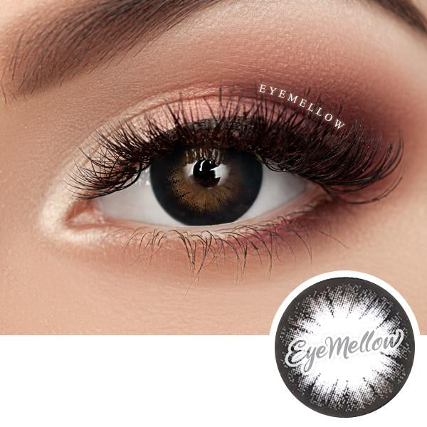 Crystal Black Colored Contact Lenses (Hyperopia)