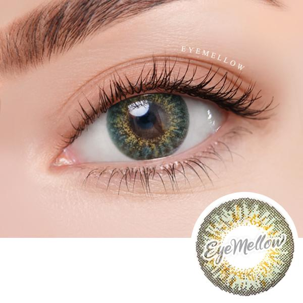 [1+1] Ocho Green Colored Contact Lenses - Silicone hydrogel