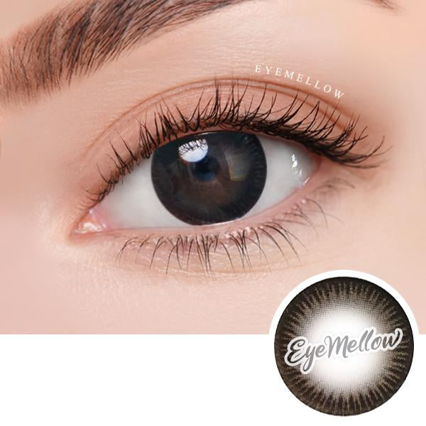 Deep Black Colored Contact Lenses - Silicone hydrogel