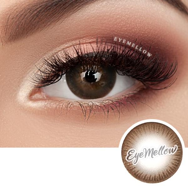 Deep Chocolate Colored Contact Lenses - Silicone hydrogel