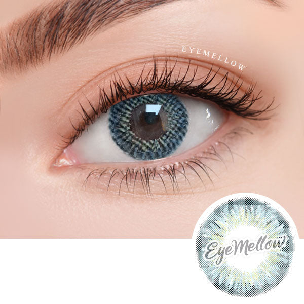 [1+1][Monthly] Wannaful Heyday Blue Colored Contacts (4Lenses)