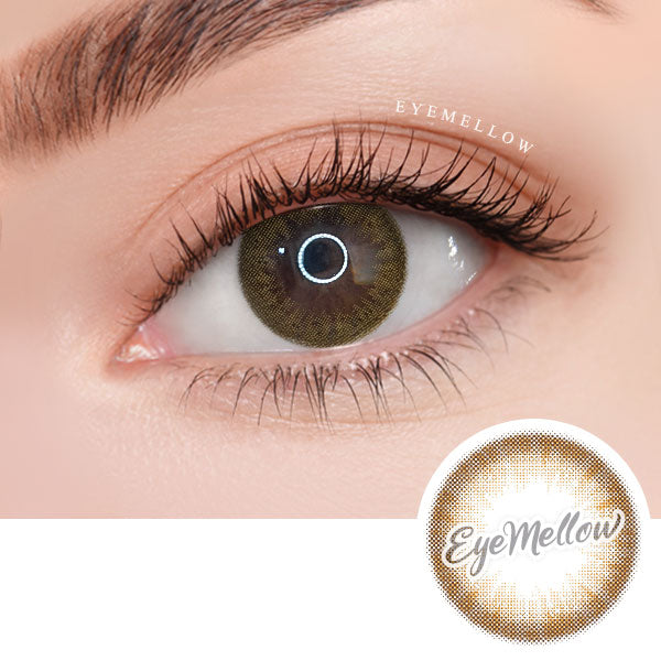 [1+1][Monthly] Wannaful Pury Brown Colored Contacts (4Lenses)