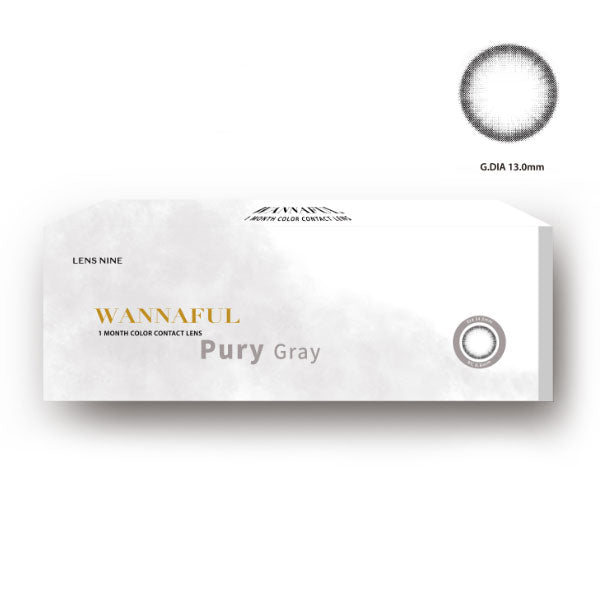 [1+1][Monthly] Wannaful Pury Gray Colored Contacts (4Lenses)